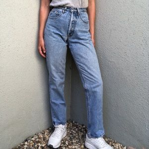 [vintage] Guess button fly high waist jeans